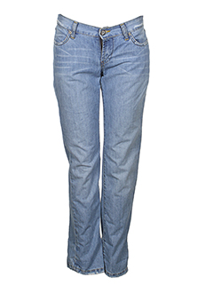 biscote jeans femme de couleur bleu clair