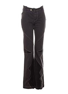 mcp pantalons femme de couleur marron fonce