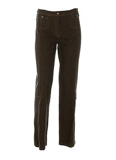 gelco pantalons femme de couleur bleu fonce