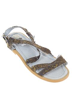 ubik sandales et nu et pieds fille de couleur bleu