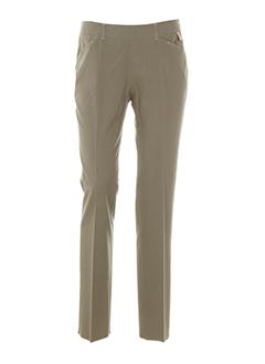 caractere pantalons femme de couleur beige