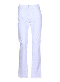 Pantalon casual blanc CORLEONE pour femme