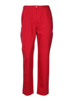 chrismas's pantalons femme de couleur rouge
