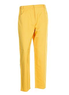 chrismas's pantalons femme de couleur jaune