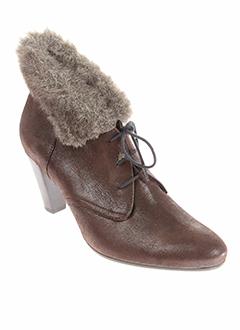 france et mode boots femme de couleur marron