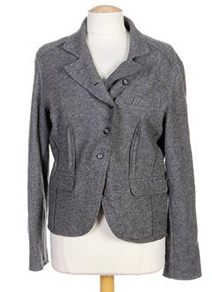 120 et lino vestes femme de couleur gris (photo)