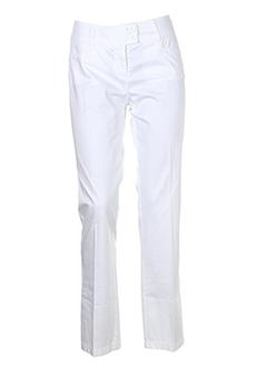 caractere pantalons femme de couleur blanc