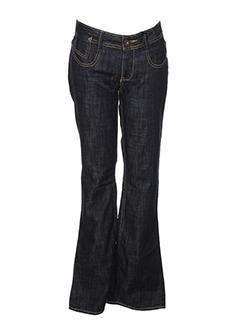 ddp pantalons fille de couleur bleu