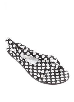 fornarina sandales et nu et pieds femme de couleur noir