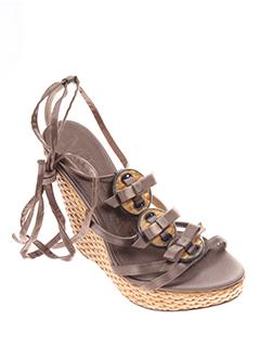 mugnai sandales et nu et pieds femme de couleur marron