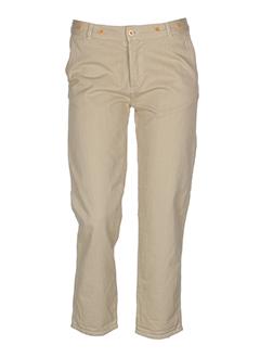 bellerose pantalons femme de couleur beige