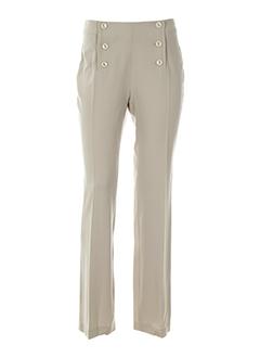 patrick mendes pantalons femme de couleur beige