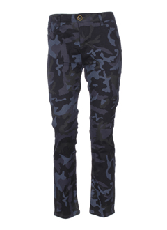 may&june pantalons femme de couleur bleu