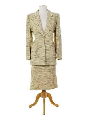 Veste/jupe beige ALAIN CHABASON pour femme