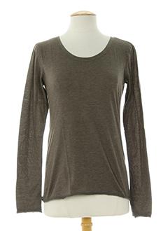 charlie joe t-shirts femme de couleur marron