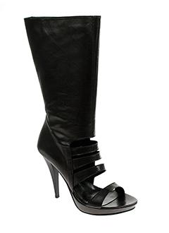 valentino et moda bottes femme de couleur noir