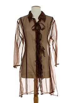 legatte tuniques femme de couleur marron