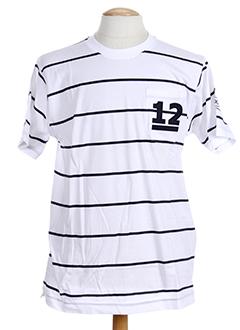 T-shirt manches courtes blanc HOOD pour homme