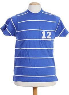 T-shirt manches courtes bleu HOOD pour homme