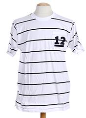 T-shirt manches courtes blanc HOOD pour homme seconde vue