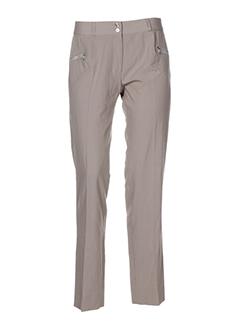 Pantalon casual beige COM ELLE pour femme