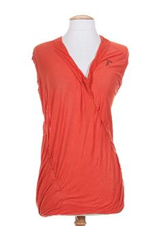 tricot chic chemises femme de couleur orange