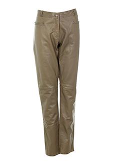 max et moi pantalons et decontractes femme de couleur beige
