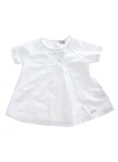 taille 0 chemises fille de couleur blanc