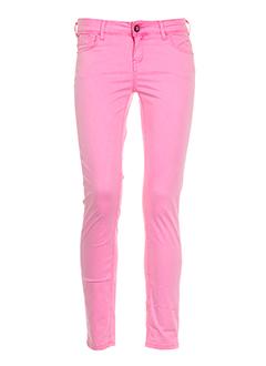 teddy et smith pantalons et decontractes femme de couleur rose
