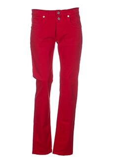 bikkembergs pantalons femme de couleur rouge