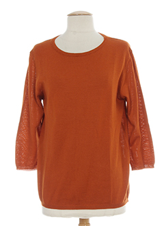 mis en jo pulls femme de couleur orange