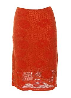 louise della jupes femme de couleur orange