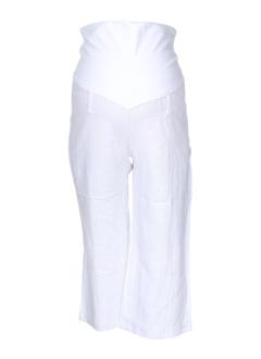 balloon pantacourts femme de couleur blanc