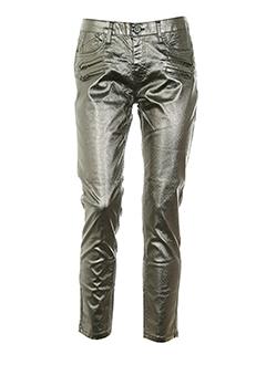 corleone pantalons et decontractes femme de couleur gris