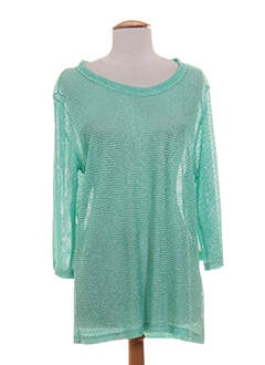 claude de saivre pulls femme de couleur vert