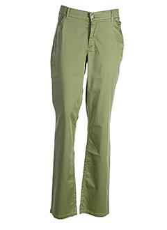 isabella diavoli pantalons femme de couleur vert