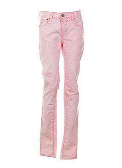 corleone pantalons femme de couleur rose