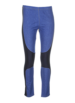 april may pantalons femme de couleur bleu