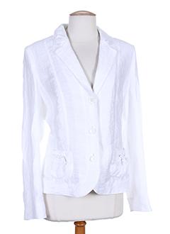 lebek vestes femme de couleur blanc