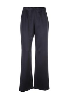 frank usher pantalons femme de couleur noir