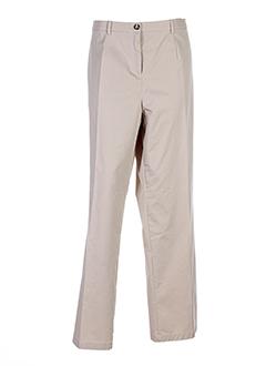 Pantalon casual beige FRANK WALDER pour femme