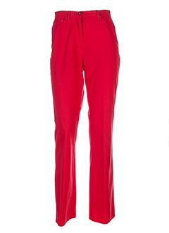 frank et eden pantalons et decontractes femme de couleur rouge
