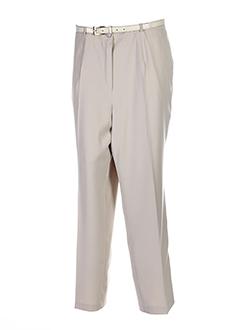 Pantalon chic beige FRANK EDEN pour femme