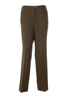 lorenzo ferreri pantalons femme de couleur marron