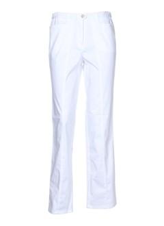 lorenzo ferreri pantalons femme de couleur blanc