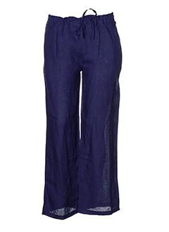 happy few pantalons femme de couleur bleu