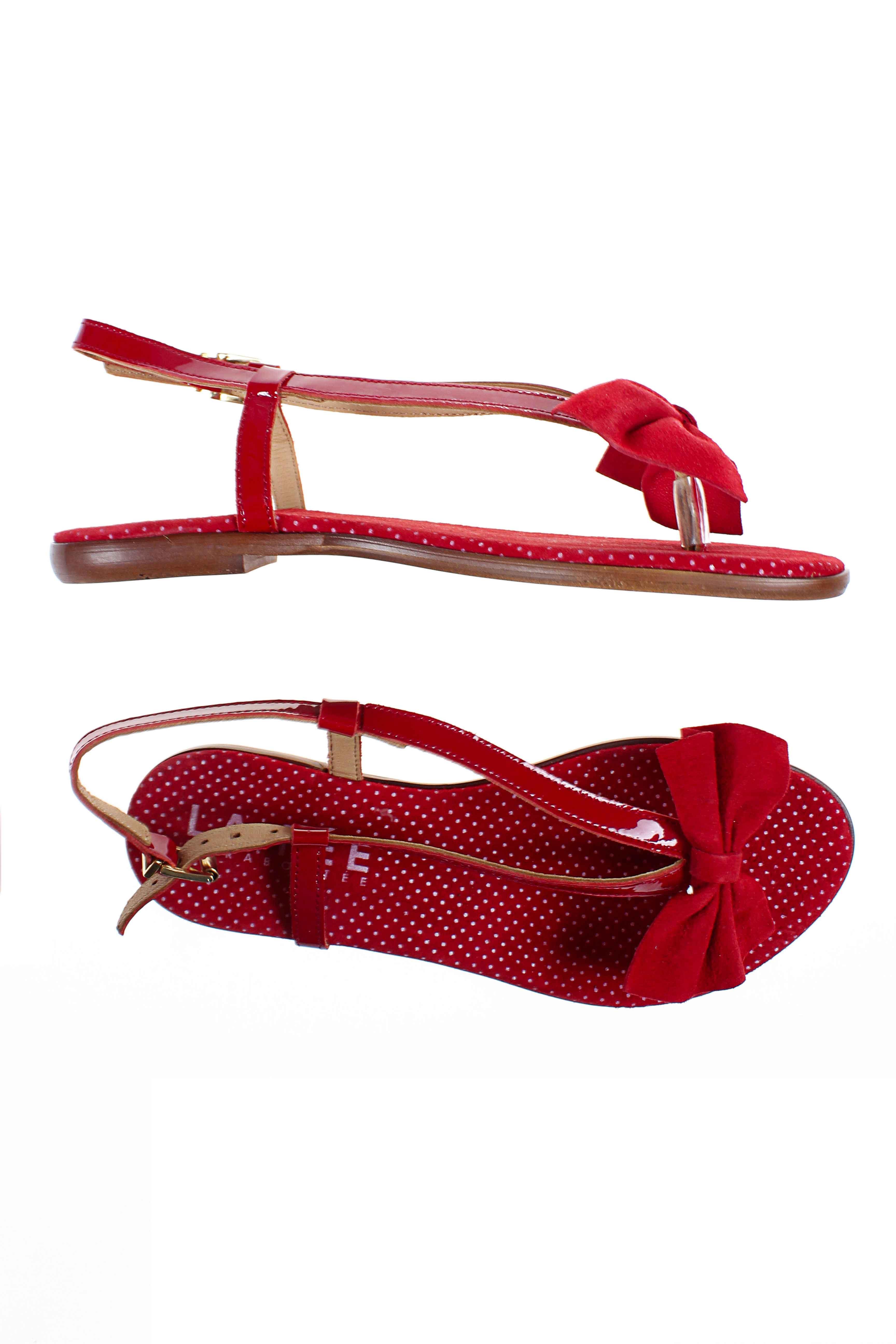 La fee maraboutee sandales nu pieds femme de couleur rouge en soldes pas cher - Fee maraboutee soldes ...