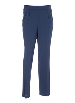 sommermann pantalons et decontractes femme de couleur bleu