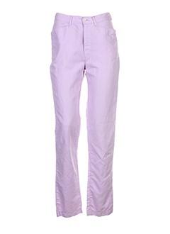 setrak pantalons femme de couleur violet