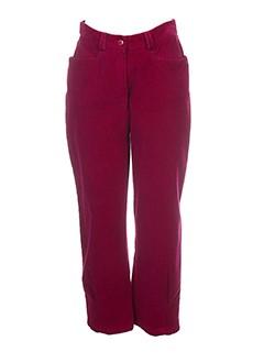 rosa et rosam pantacourts et decontractes femme de couleur rouge